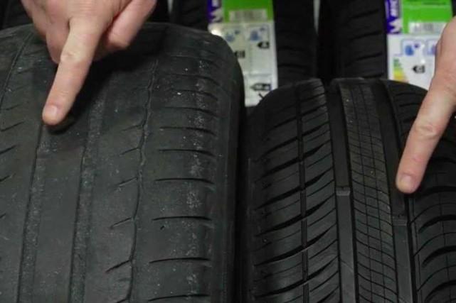 Un pneu ne doit pas avoir été refaçonné... (Photo fournie par le SPS)