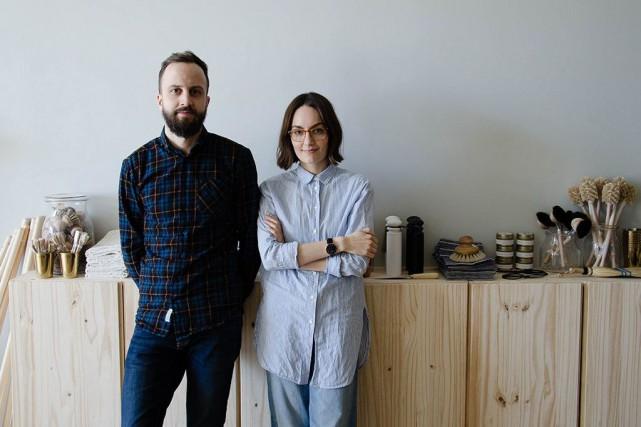 Joël et Danielle Cyr, le couple franco-manitobain derrière... (PHOTO FOURNIE PAR MÛR LIFESTYLE)