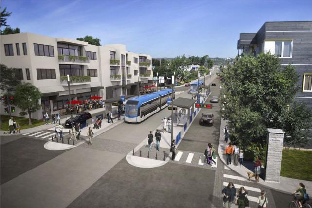 Le projet d'un futur SRB est une autre rêverie collective qui ne peut que... (Image fournie par la Ville de Québec)
