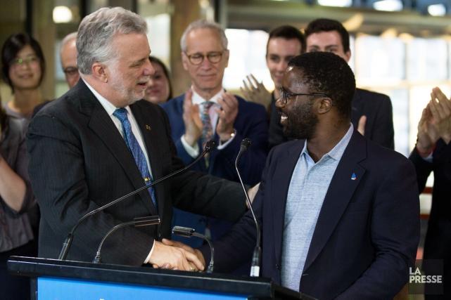 Le premier ministre du Québec et chef du... (PHOTO SIMON GIROUX, LA PRESSE)