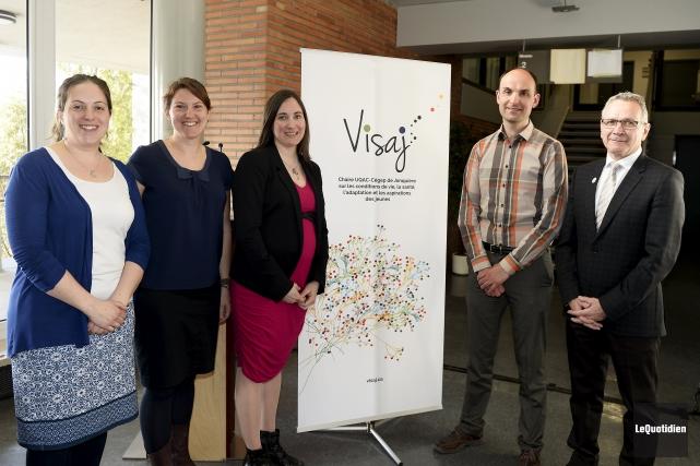 Les trois nouvelles titulaires de la chaire VISAJ... (Photo Le Quotidien, Jeannot Lévesque)