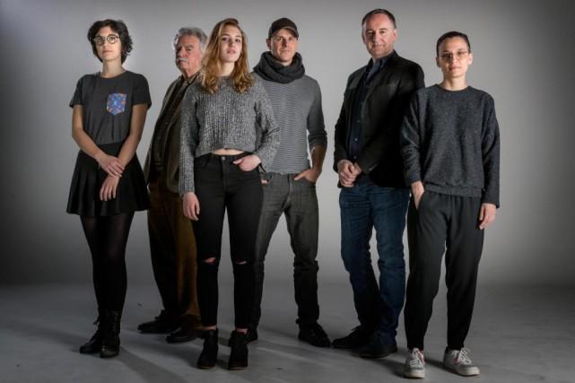 Fanny-Laure Malo, Marcel Carrière, Sophie Nélisse, Alexandre Landry,... (Photo Marco Campanozzi, La Presse)