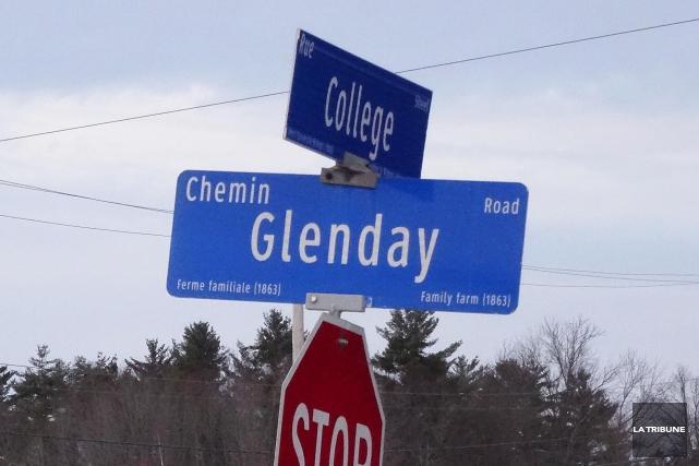 Le chemin Glenday, dans l'arrondissement de Lennoxville, a été fermé pour des... (Archives La Tribune, René Marquis)