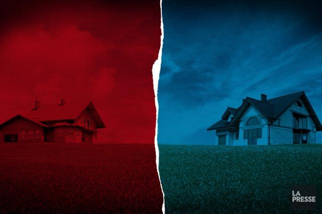 Des milliers de Québécois vivent un conflit avec leurs voisins qui peut avoir... (Photomontage La Presse)