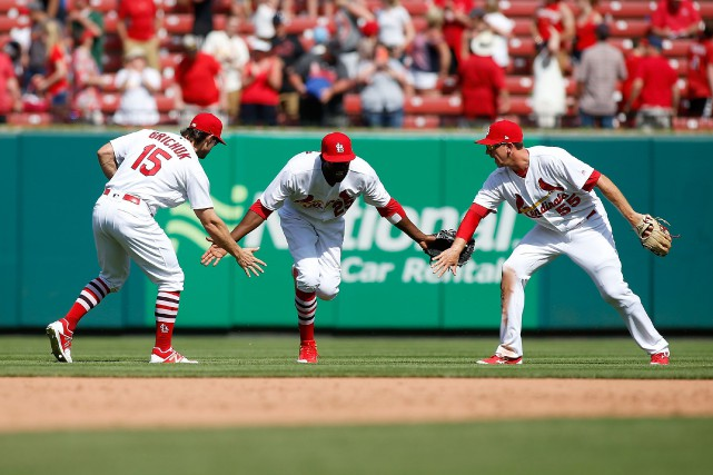 Le Cardinals ont pu compléter un balayage de... (Photo Scott Kan, USA TODAY Sports)