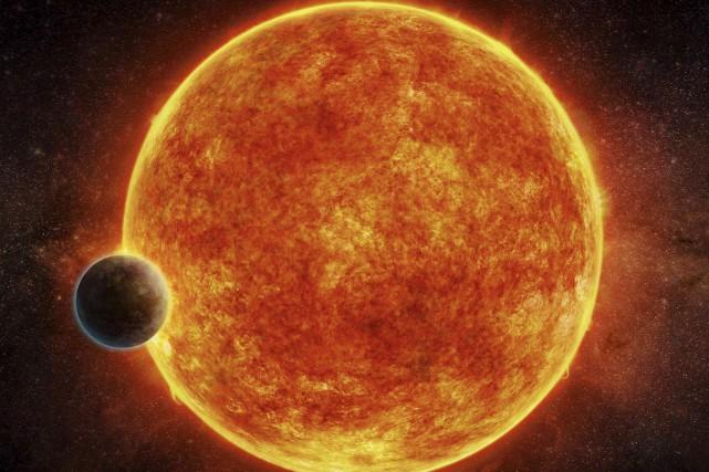 Une première image de LHS 1140b et de... (AFP, Observatoire européen austral)