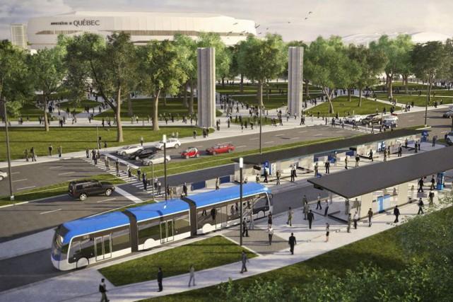 «Ce qu'on aimait dans ce projet, c'était que... (Image fournie par la Ville de Québec)