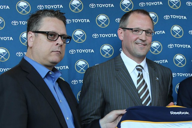 Le directeur général des Sabres de Buffalo, Tim... (Photo Kevin Hoffman, archives USA Today Sports)