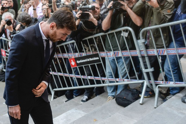 Le tribunal de Barcelone a condamné Lionel Messi... (Photo Josep Lago, archives AFP)