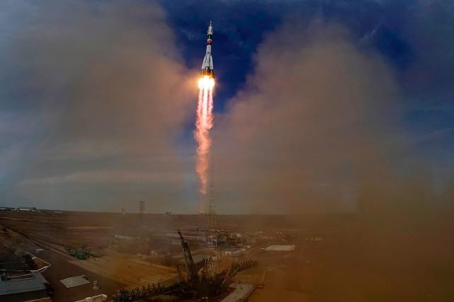 Le vaisseau avait quitté les steppes kazakhes, emportant... (Shamil Zhumatov, REUTERS)