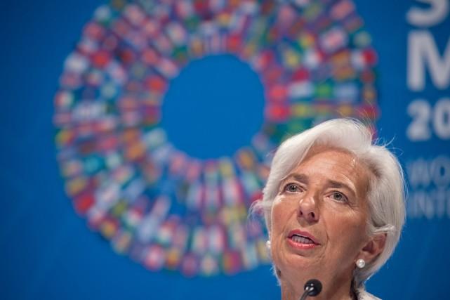 La directrice générale du FMI Christine Lagarde.... (AFP)