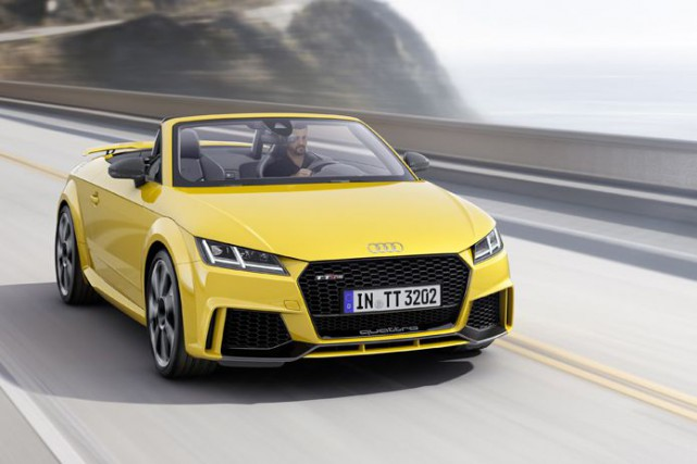 Une Audi TT de couleur «jaune Vegas».... (Photo : Audi)