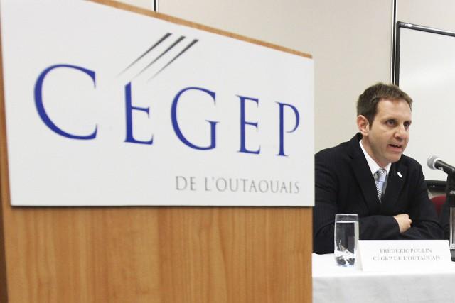 Le directeur général du Cégep de l'Outaouais, Frédéric... (Martin Roy, Archives LeDroit)