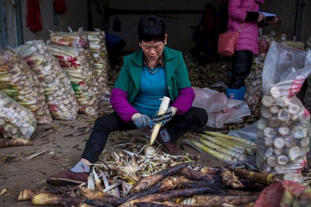 Le système alimentaire de la Chine est complexe... (Agence France-Presse)