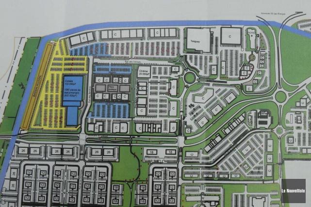 Le projet de colisée à Trois-Rivières au District... (Sylvain Mayer, Le Nouvelliste)