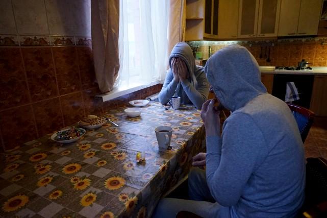 Dans la société conservatrice de la Tchétchénie, l'homosexualité... (AFP, Naira Davlashyan)
