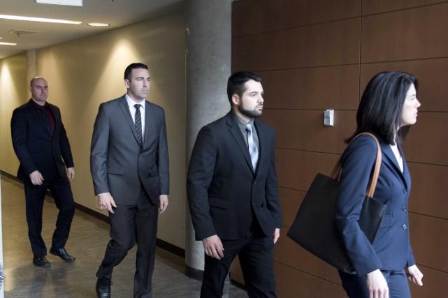 Le procès des quatre policiers de Trois-Rivières, accusés... (Sylvain Mayer, Le Nouvelliste)