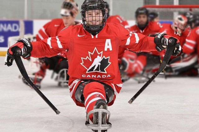 Autrefois nommé hockey luge, le sport a récemment... (Courtoisie)