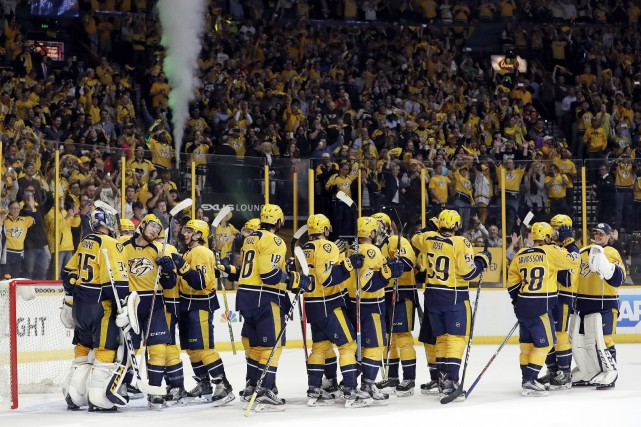 Les Predators vont affronter les Blues ou le... (PHOTO Mark Humphrey, AP)