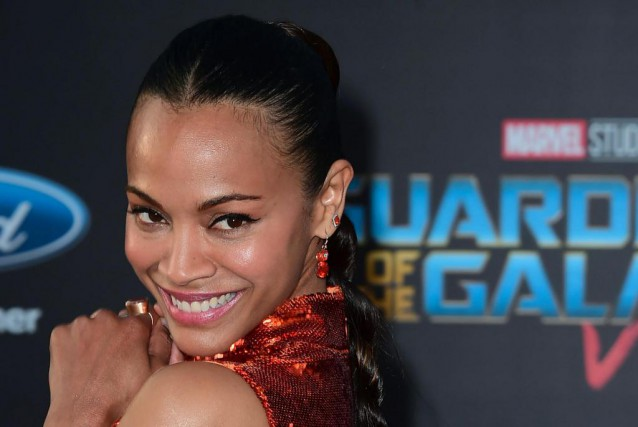 L'actrice Zoe Saldana incarne Gamora dans Guardians of the... (Photo Frederic J. Brown)