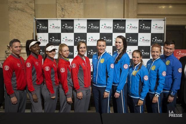 Trois des quatre membres de l'équipe canadienne de... (Photo Olivier Pontbriand, La Presse)