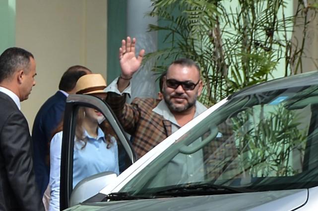 Le roi du Maroc Mohammed VI s'est rendu... (Photo AFP)