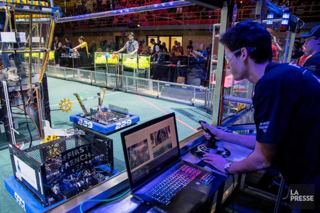 First Lego League a pour mission d'initier les... (PHOTO ALAIN ROBERGE, LA PRESSE)