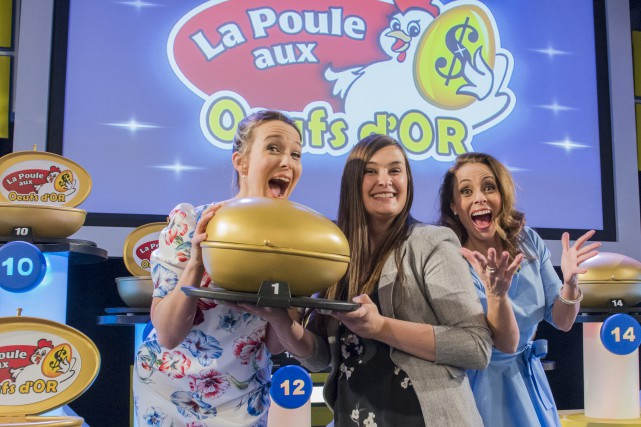 Julie Houle et Claudia Ébacher sont toujours très... (Photo courtoisie, Loto-Québec)