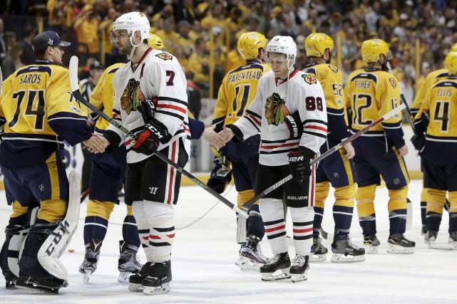 Les Predators ont balayé les Blackhawks au premier... (Associated Press)