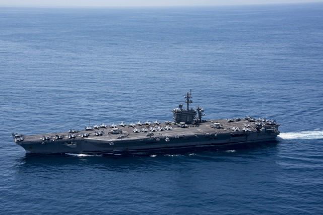 Le USS Carl Vinson est en route pour... (PHOTO AFP)