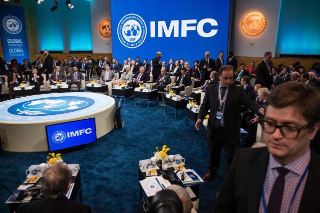 Dans son communiqué final, le FMI a évité... (Photo  ZACH GIBSON, AFP)