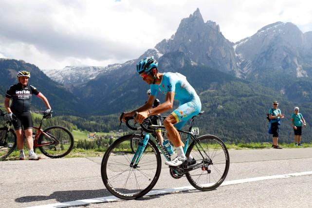Michele Scarponi en 2016 durant le Tour d'Italie... (AFP, Luk Benies)