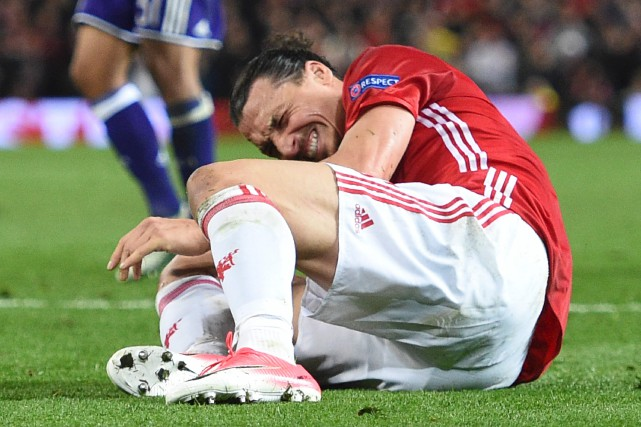 Zlatan Ibrahimovic... (Photo Oli SCARFF, AFP)