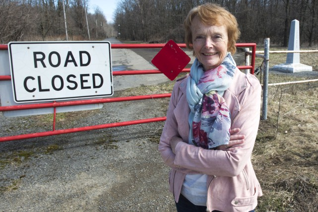 Janet McFetridge, une habitante de Champlain, dans l'État... (La Presse canadienne, Ryan Remiorz)