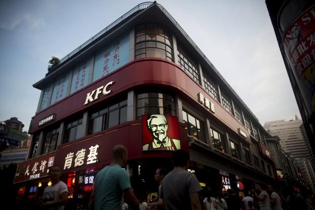 En 2014, la chaîne KFC en Chine avait... (Bloomberg)