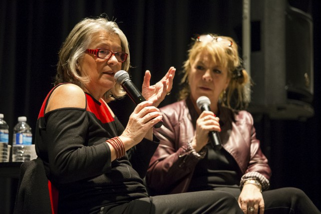 Arlette Cousture et Patricia Powers... (Olivier Croteau)