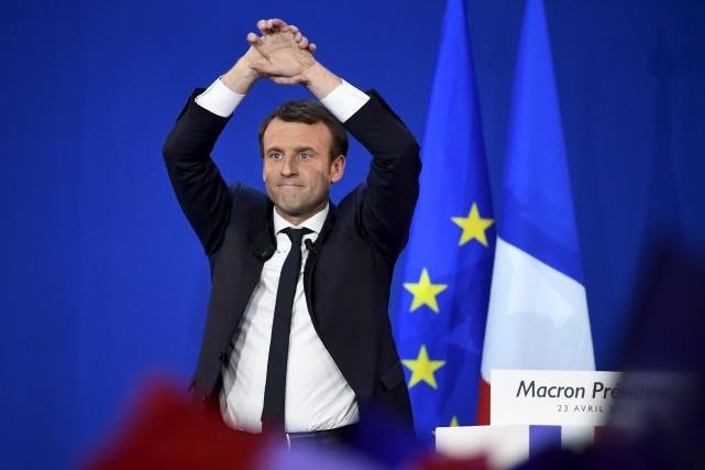 Emmanuel Macron... (Agence France-Presse)