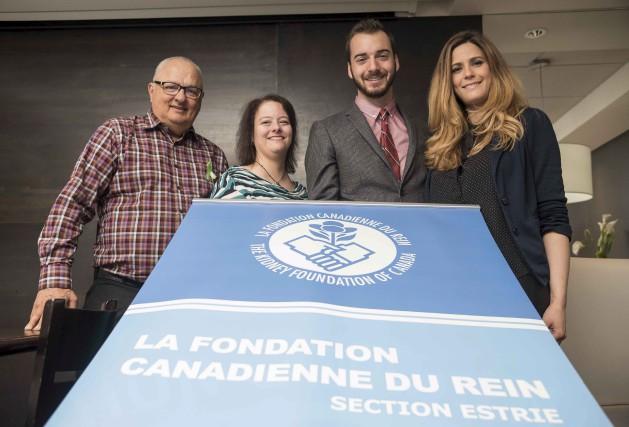 Maurice Bernier, Josée Parenteau et Janie Boulianne-Gref, présidente... (Spectre média, Frédéric Côté)