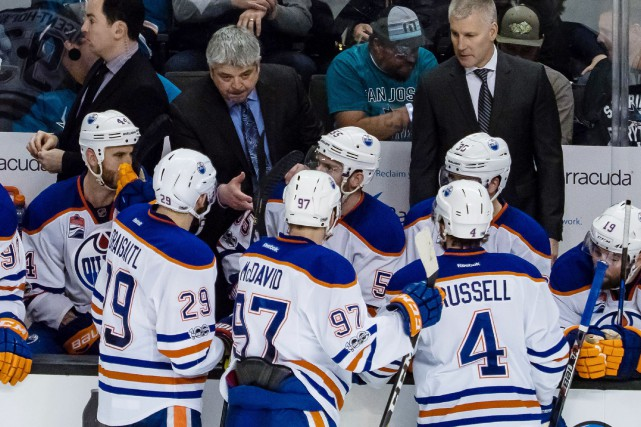Les Oilers d'Edmonton ont éliminé les Sharks de... (Photo Kelley L Cox, USA Today Sports)