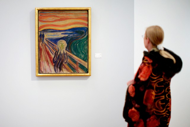 Le cri d'Edvard Munch... (PHOTO ARCHIVES AFP)