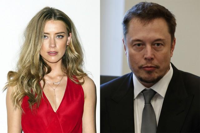 Le milliardaire Elon Musk semble s'être rapproché de l'actrice Amber Heard. Des... (PHOTO ARCHIVES AP)