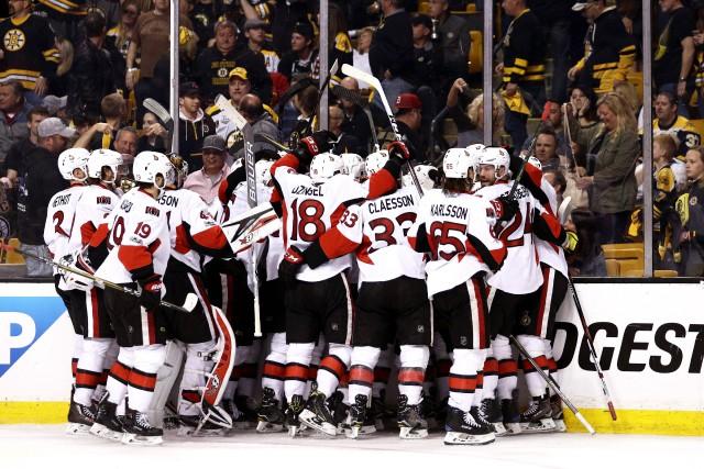 Les Sénateurs d'Ottawa ont éliminé les Bruins de... (Photo Maddie Meyer, AFP)