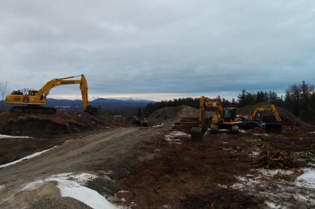 Les travaux ont commencé dans le secteur de... (Photo tirée de Facebook)