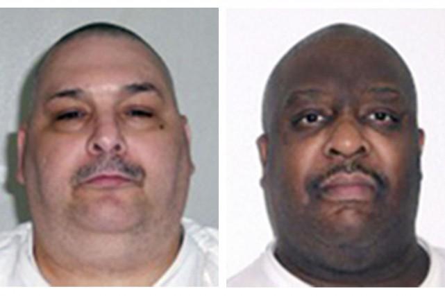Jack Jones et Marcel Williams... (Photo archives Associated Press/Arkansas Department of Correction)