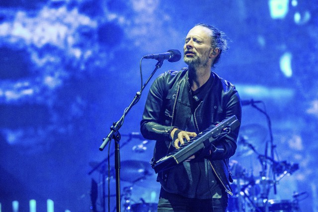 Le chanteur de Radiohead Thom Yorke lors d'un... (PHOTO AP)