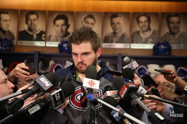 Alex Galchenyuk a répondu aux questions des journalistes... (PHOTO MARTIN CHAMBERLAND, LA PRESSE)