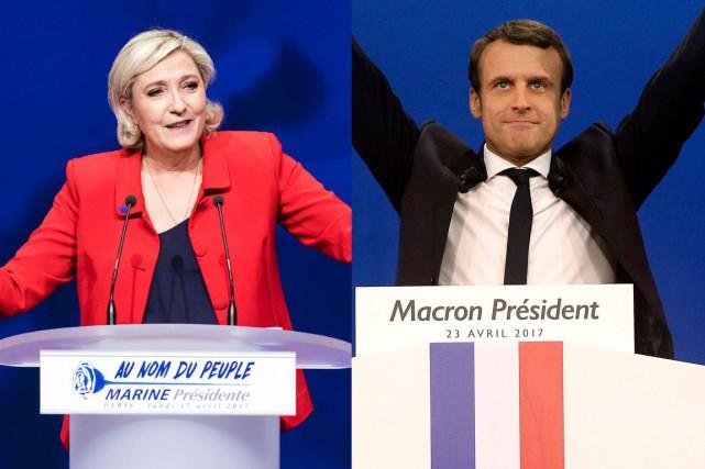 Marine Le Pen et Emmanuel Macron...