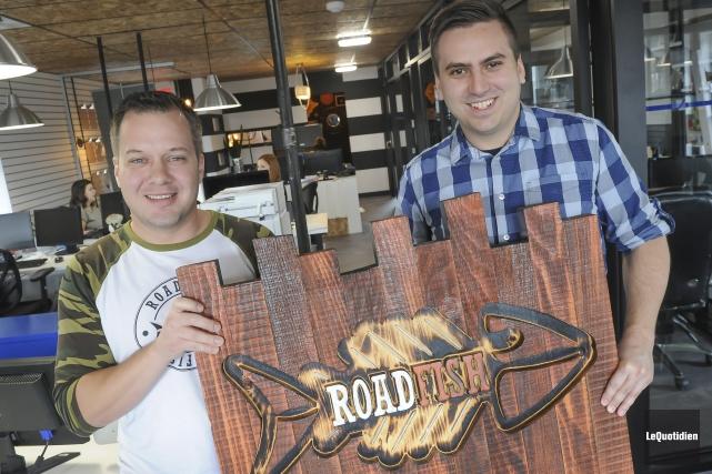 Daniel Gagné et Jean-François Tremblay ont créé la... (Photo Le Quotidien, Gimmy Desbiens)
