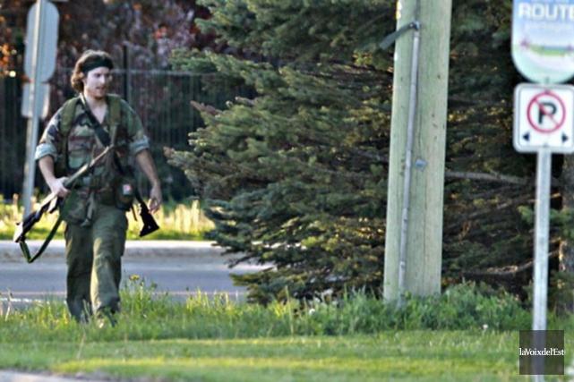 Justin Bourque avait réussi à tuer trois policiers... (PHOTO ARCHIVES LA VOIX DE L'EST)