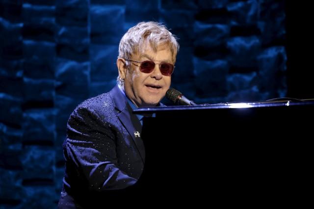 Elton John... (REUTERS)